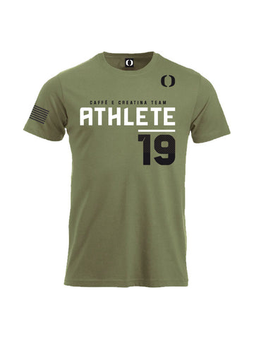 Caffè e Creatina triblend competitor tee - Delta Force - Army Green - Male/Uomo