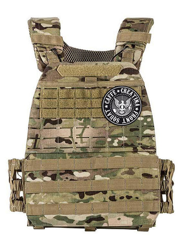 Tactical Vest Plate Carrier - Caffè e Creatina - Camouflage
