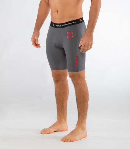 Men's Stay Cool Compression Short Co14.5 - VIRUS - Charchoal/Red