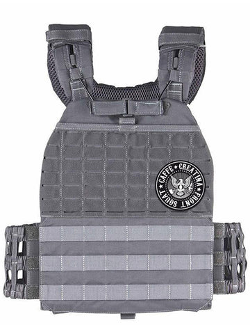 Tactical Vest Plate Carrier - Caffè e Creatina - Urban Grey
