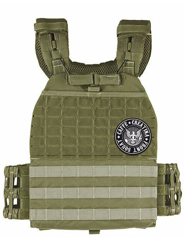 Tactical Vest Plate Carrier - Caffè e Creatina - Army Green