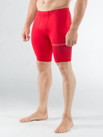 Men's Stay Cool Compression V3 Tech Shorts VIRUS - Red