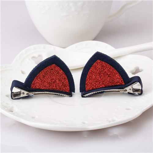 Women's Matching Cat Ear Barrettes