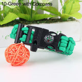 "Multi-Function Parachute ""Paracord"" Wristband w/ Whistle + Compass"