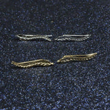 Exquisite 18K Gold Plated Feather Earrings