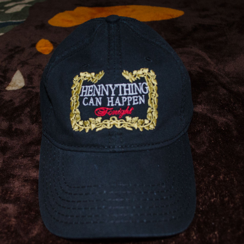 6c29034414e2a Hennything Can Happen Dad Hat (Gold Floral Border) – Gawdd Supply