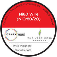 Crazy Wire - Nichrome Ni80 (NiCr80/20)