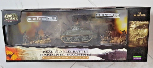 #85324 US M4A1 SHERMAN TANK & 8 FIG