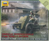 #6112 Soviet 45-mm Anti-Tank Gun with Crew