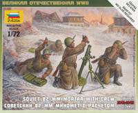#6208 Soviet 82mm Mortar with Crew (Winter)