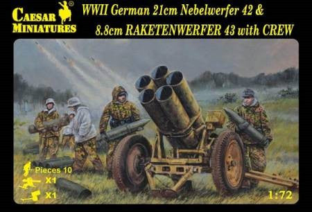 #93 WWII German Nebelwerfer 42 & Raketenwerfer 43 with Crew