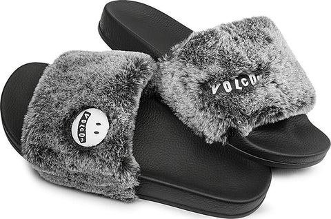 Volcom Lived In Lounge Slides W0811903 Heather Grey