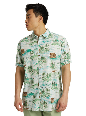 Burton Shabooya Camp Short Sleeve Shirt 20843101300 Sterling Pond