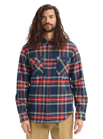 Burton Brighton Premium Flannel Dress Blue Classic Plaid 21369100400