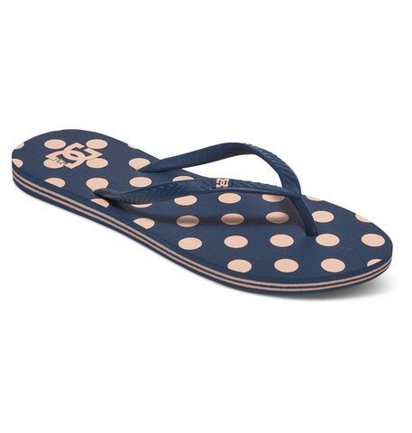 DC Spray Graffik Flip Flops Navy