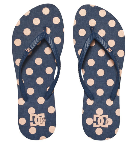 DC Spray Graffik Flip Flops 303363 Navy