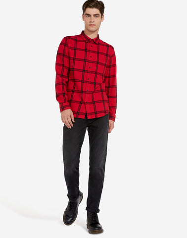 Wrangler One Pocket Shirt W5A1T2X51 Crimson Red