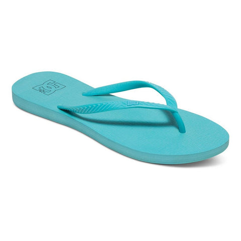 DC Spray Flip Flops Aqua