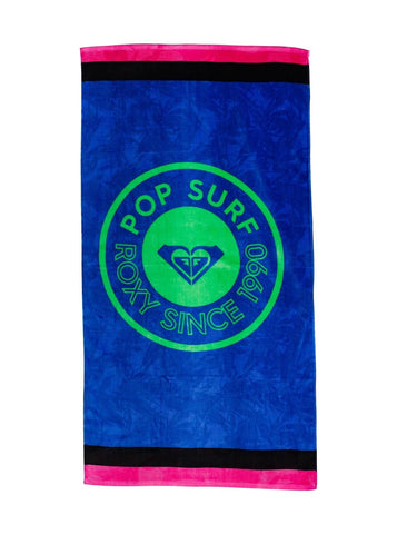 Roxy Perfect Inspiration Organic Beach Towel ERJAA03853-XWBB Princess Blue Texture Flower