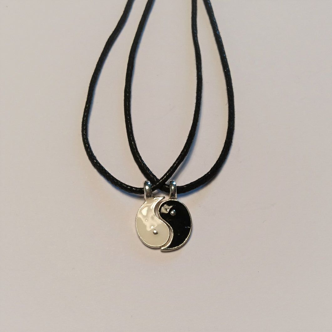Ying yang friendship necklace