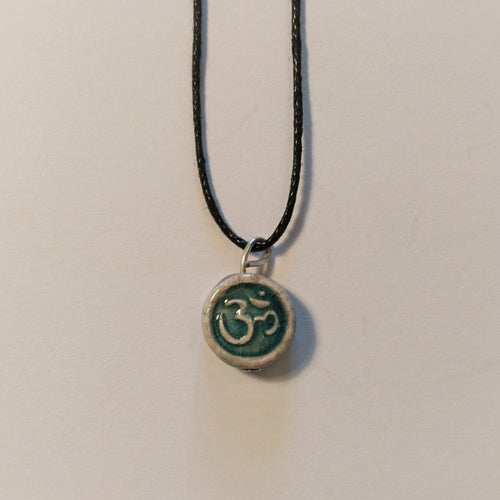 Ceramic om necklace