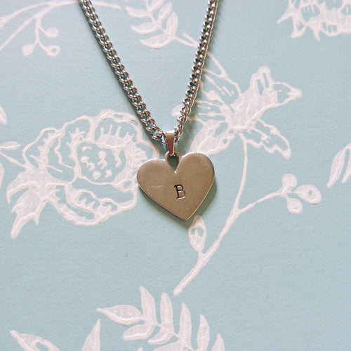 Heart Initial Chain Necklace