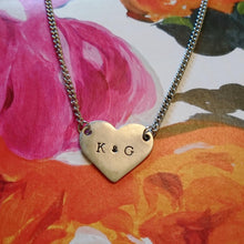 Large Heart Inital Necklace
