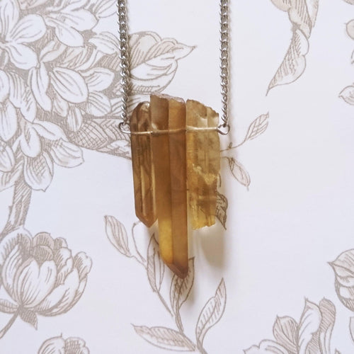 Amber Quartz Necklace