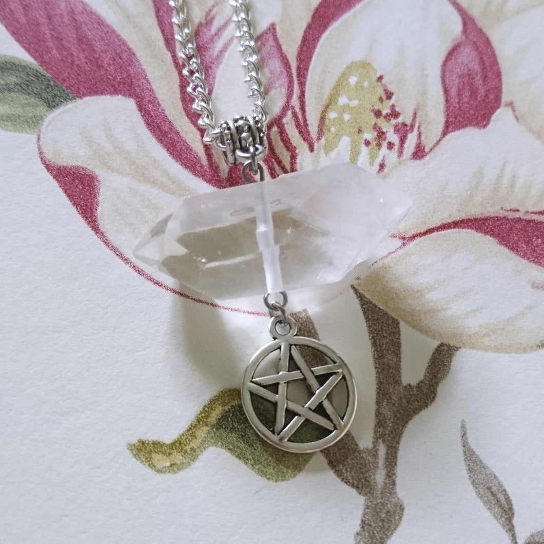 Clear Quartz Pentagram Necklace