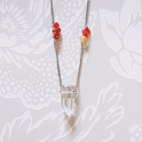 Quartz Red Gemstone Necklace