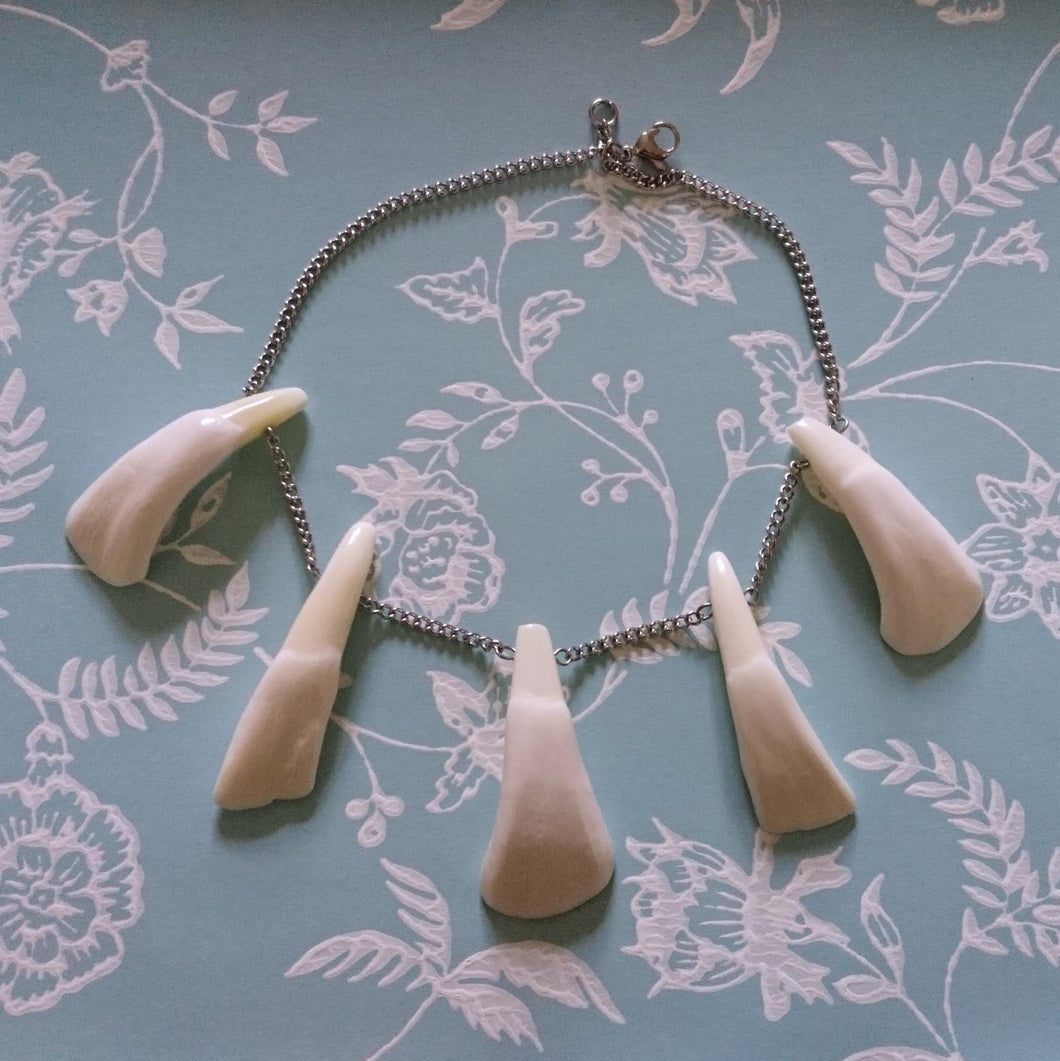 Buffalo Teeth Necklace