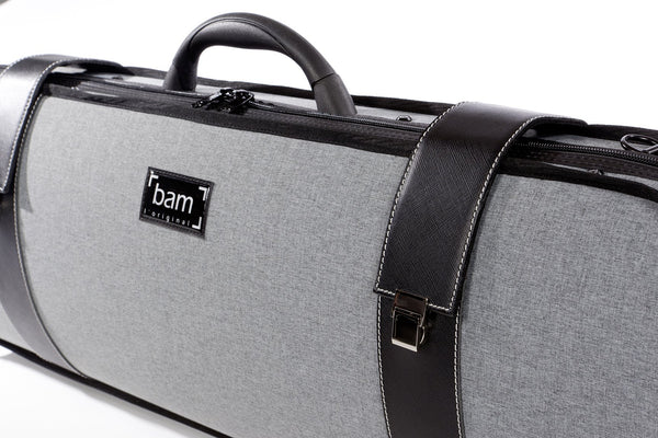 Bam GREY FLANNEL HIGHTECH OBLONG VIOLIN CASE 2001GF - Fiddle Cases