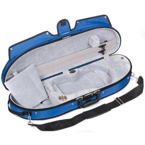Bobelock 1047 Puffy Half Moon Violin Case Blue - Fiddle Cases