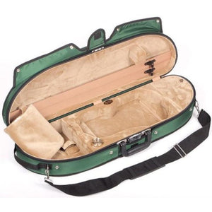 Bobelock 1047 Puffy Half Moon Violin Case Green - Fiddle Cases