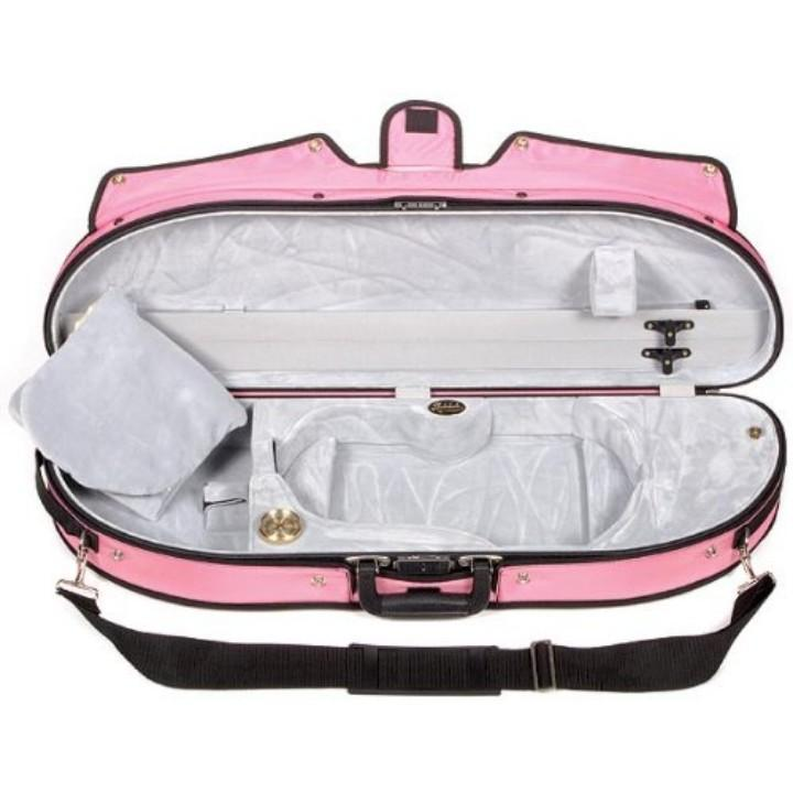 Bobelock 1047 Puffy Half Moon Violin Case Pink - Fiddle Cases