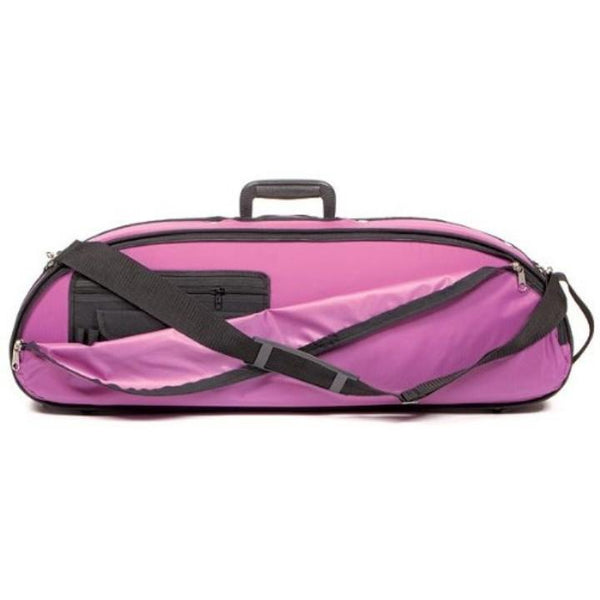 Bobelock 1047 Puffy Half Moon Violin Case Purple - Fiddle Cases
