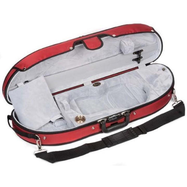 Bobelock 1047 Puffy Half Moon Violin Case Red - Fiddle Cases
