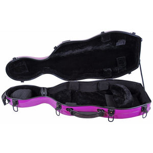 Tonareli Shaped Viola Fiberglass Cases with Wheels VAF1001 Purple - Fiddle Cases
