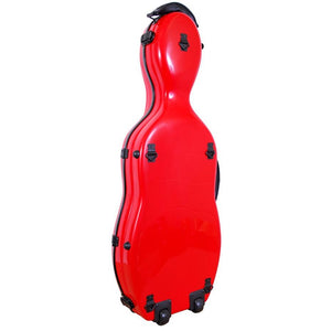 Tonareli Shaped Viola Fiberglass Cases with Wheels VAF1004 Red - Fiddle Cases
