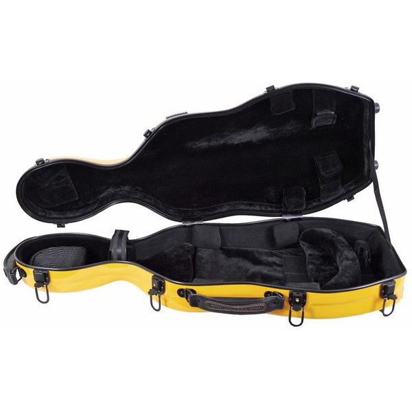Tonareli Shaped Viola Fiberglass Cases with Wheels VAF1007 Yellow - Fiddle Cases