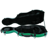Tonareli Shaped Viola Fiberglass Cases with Wheels VAF1010 Green