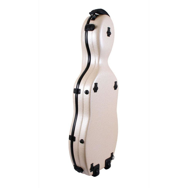 Tonareli Shaped Viola Fiberglass Cases with Wheels VAF1011 Pearl - Fiddle Cases