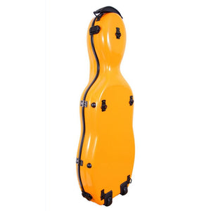 Tonareli Shaped Viola Fiberglass Cases with Wheels VAF1012 Orange - Fiddle Cases