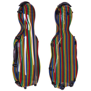 "Tonareli Shaped Viola Fiberglass Cases with Wheels VAF1019 ""Malibu"" - Fiddle Cases"