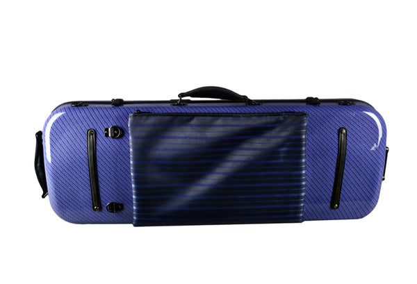Tonareli Oblong Fiberglass Viola Case Special Edition Blue Checkered VAFO1005 - Fiddle Cases