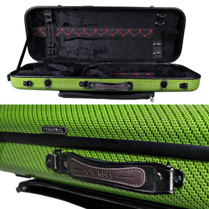 Tonareli Oblong Fiberglass Viola Case Special Edition Green Checkered VAFO1006 - Fiddle Cases