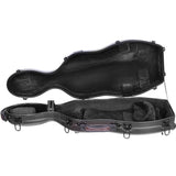 Tonareli Shaped Viola Fiberglass Cases with Wheels VAF1013 Special Edition Carbon-look Checkered