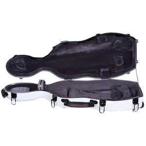 Tonareli Shaped Viola Fiberglass Cases with Wheels VAF1016 Pearl Graphite - Fiddle Cases