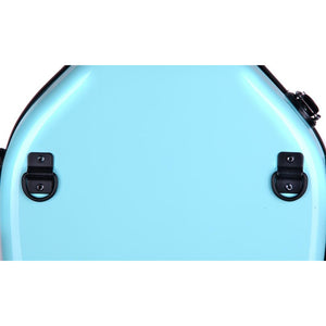 Tonareli Shaped Viola Fiberglass Cases with Wheels VAF1018 Turquoise - Fiddle Cases
