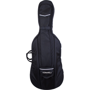 Tonareli Cello Designer Super Duty Gig Bag Black VCDB1000 - Fiddle Cases